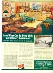 Click here to enlarge image and see more about item R1697: 1947 ARMSTRONG  TILE AD BASEMENT DESIGN