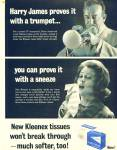 Click here to enlarge image and see more about item R1716: 1964 HARRY JAMES Trumpet KLEENEX AD