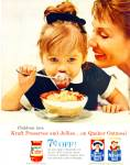 1962 QUICK Quaker Mother OATS AD Cute GIRL