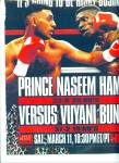 Click here to enlarge image and see more about item R1776: Prince Naseem Hamed vs. Vuyan Bunguy fight ad