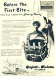 Click here to enlarge image and see more about item R1797: 1951 Norfolk and Western Railway ad