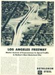 Click here to enlarge image and see more about item R1800: 1951 Bethlehem Steel ad LOS ANGELES FREEWAY