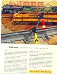 1951 National City Bank NY AD RAILROAD TRAIN