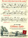 Click here to enlarge image and see more about item R1804: 1951 California Zephyr train ad