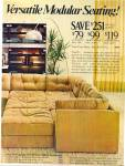 1977 LEVITZ Broyhill MODULAR Furniture AD 2 p