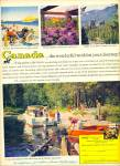 Click here to enlarge image and see more about item R1844: 1960 Canada Travel AD Beautiful pics