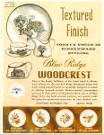 Click here to enlarge image and see more about item R1856: Blue Ridge Woodcrest dinnerware - Nov. 1953