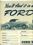 Click here to enlarge image and see more about item R1934: Vintage Ford V-8 Convertible 2 Seat CAR AD