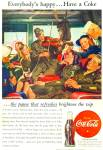1946 COCA COLA COKE SOLDIERS COMING HOME AD