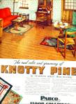 Click here to enlarge image and see more about item R1984: 1938 Pabco Knotty Pine Floor Covering AD
