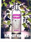 1995 Absolut Kurant  AD Black Currant AD