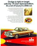 Click here to enlarge image and see more about item R2132: 1975 Dodge Dart 75   automobile Car ad