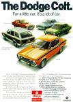 1974 DODGE COLT COLOR AD 5 MODELS -ITS A LOT