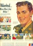 1950 US Army Recruiting AD MORE MEN LIKE MIKE