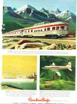 1958 Canadian Pacific  railroad ad TRAIN