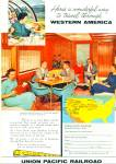 Click here to enlarge image and see more about item R2238: Union Pacific Railroad ad -  1958
