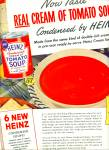 Click here to enlarge image and see more about item R2263: Heinz Cream of Tomato soup ad - 1943