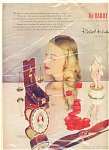 Click here to enlarge image and see more about item R2346: 1946 DuBarry Beauty Hudnut Preparations AD