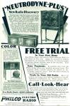 Click here to enlarge image and see more about item R2357: Philco Electric radio  ad- 1928