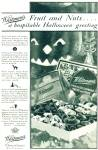 Click here to enlarge image and see more about item R2359: 1928 Whitman's HALLOWEEN chocolates ad - 1928