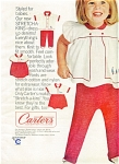1965 Carter's AD Cutest SMILING Girl in KNITS