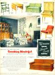 1952 WILLETT Furniture Co. AD SOLID MAPLE Vin