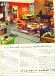 Armstrong's Rubber tile ad  1952 RETRO DESIGN