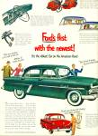 1952 FORD Customline ABLEST CAR Green Sedan A