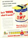 Click here to enlarge image and see more about item R2496: Sherwin-Williams Paints ad - 1952 #2