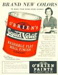 O'Brien Paints ad -  1952