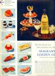 Click here to enlarge image and see more about item R2577: Seagram's Golden Gin ad - 1956
