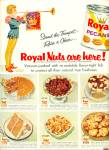 Click here to enlarge image and see more about item R2579: Royal Pecans ad - 1956