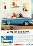 1963 AMC RAMBLER American 220 CAR AD Original