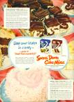 Swans Down cake mixes ad -  1952