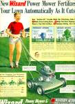 Click here to enlarge image and see more about item R2973: 1952 Western Auto Wizard Power Lawn Mower Ad