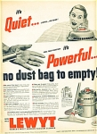 Click here to enlarge image and see more about item R3034: Lewyt vacuum cleaner ad   1952