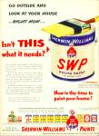 Click here to enlarge image and see more about item R3128: Sherwin-Williams paints ad - 1952