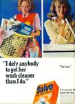 Salvo low suds tablets  ad- 1965 SO SIMPLE