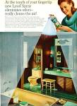 Click here to enlarge image and see more about item R3168: Lysol  Spray ad - 1965