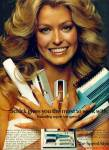 Click here to enlarge image and see more about item R3214: 1974 FARAH FAWCETT Lady Schick AD