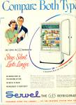 Servel the gas refrigerator ad - 1950