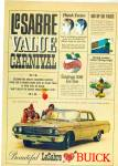 Click here to enlarge image and see more about item R3457: 1960's Buick LeSabre Convertible Carnival Ad