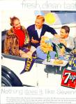 7 Up  drink ad - 1958