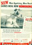 Gaines dog meal ad