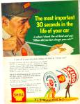 Click here to enlarge image and see more about item R3609a: Shell X-100 motor oil  ad Service Attendant