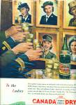Click here to enlarge image and see more about item R3680: 1945 Canada Dry WAR TIME WAC WAVE SPAR AD Mil