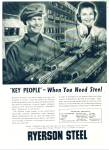 Ryerson Steel co. ad    1948
