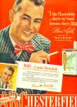 Chesterfield cigarettes ad ALAN LADD Actor