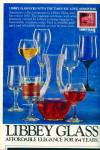 Click here to enlarge image and see more about item R3859: Libbey glass ad - 1982