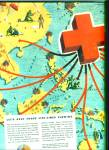 Red Cross blood donor centers ad 1945